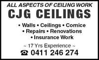 CJG Ceilings Company Logo by CJG Ceilings in Woodvale WA