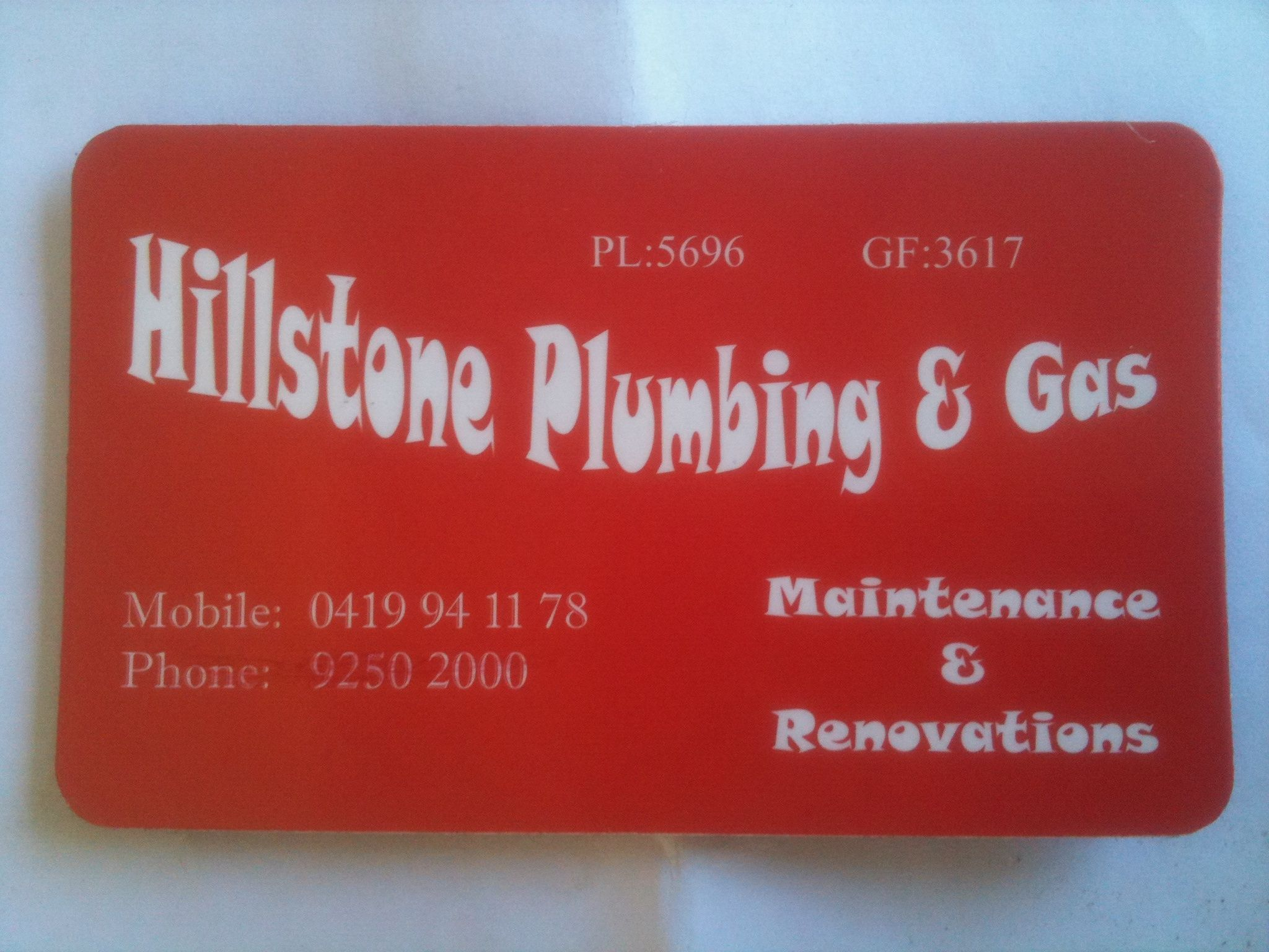 Hillstone Plumbing and Gas