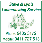STEVE & LYNS LAWNMOWING SERVICE