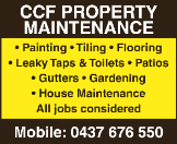 CCF PROPERTY MAINTENANCE