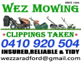 WEZ MOWING - LAWNMOWING, SLASHING & FIRE BREAKS