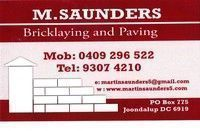 Martin Saunders Bricklaying