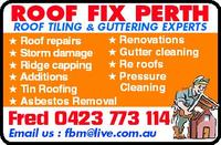 ROOF FIX Company Logo by ROOF FIX in Gosnells WA