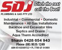 SDJ Plumbing & Gas Pty Ltd Company Logo by SDJ Plumbing & Gas Pty Ltd in Dudley Park WA