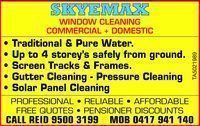 Skyemax Window Cleaning Company Logo by Skyemax Window Cleaning in Greenfields WA
