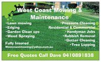 WEST COAST MOWING AND MAINTENANCE