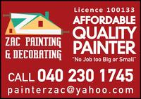 ZAC PAINTING & DECORATING Company Logo by ZAC PAINTING & DECORATING in BALDIVIS WA