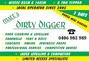 Matt's Dirty Digger Mini Loaders & Landscaping Company Logo by Matt's Dirty Digger Mini Loaders & Landscaping in Port Kennedy WA