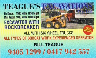 Teague Excavations Company Logo by Teague Excavations in Ashby WA