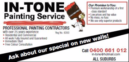 In-Tone Painting Service Company Logo by In-Tone Painting Service in Joondanna WA