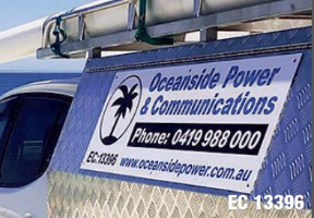 Oceanside Power & Communications Company Logo by Oceanside Power & Communications in Clarkson WA