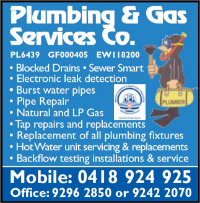 Plumbing and Gas Services Co Company Logo by Plumbing and Gas Services Co in Henley Brook WA