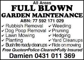 Full Blown Garden Maintenance Company Logo by Full Blown Garden Maintenance in High Wycombe WA