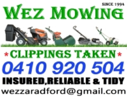 WEZ MOWING - LAWNMOWING, HEDGE TRIMMING Company Logo by WEZ MOWING - LAWNMOWING, HEDGE TRIMMING in Seville Grove WA