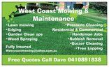 Tradie WEST COAST MOWING AND MAINTENANCE in Joondalup WA