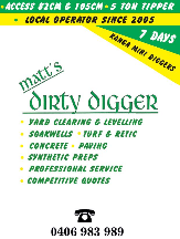 Tradie Matt's Dirty Digger Mini Loaders & Landscaping in Port Kennedy WA