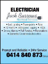 Tradie Jack Burrows Electrical Services in Thornlie WA