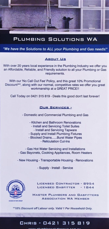 plumbing solutions wa plumbers gas looklocalwa
