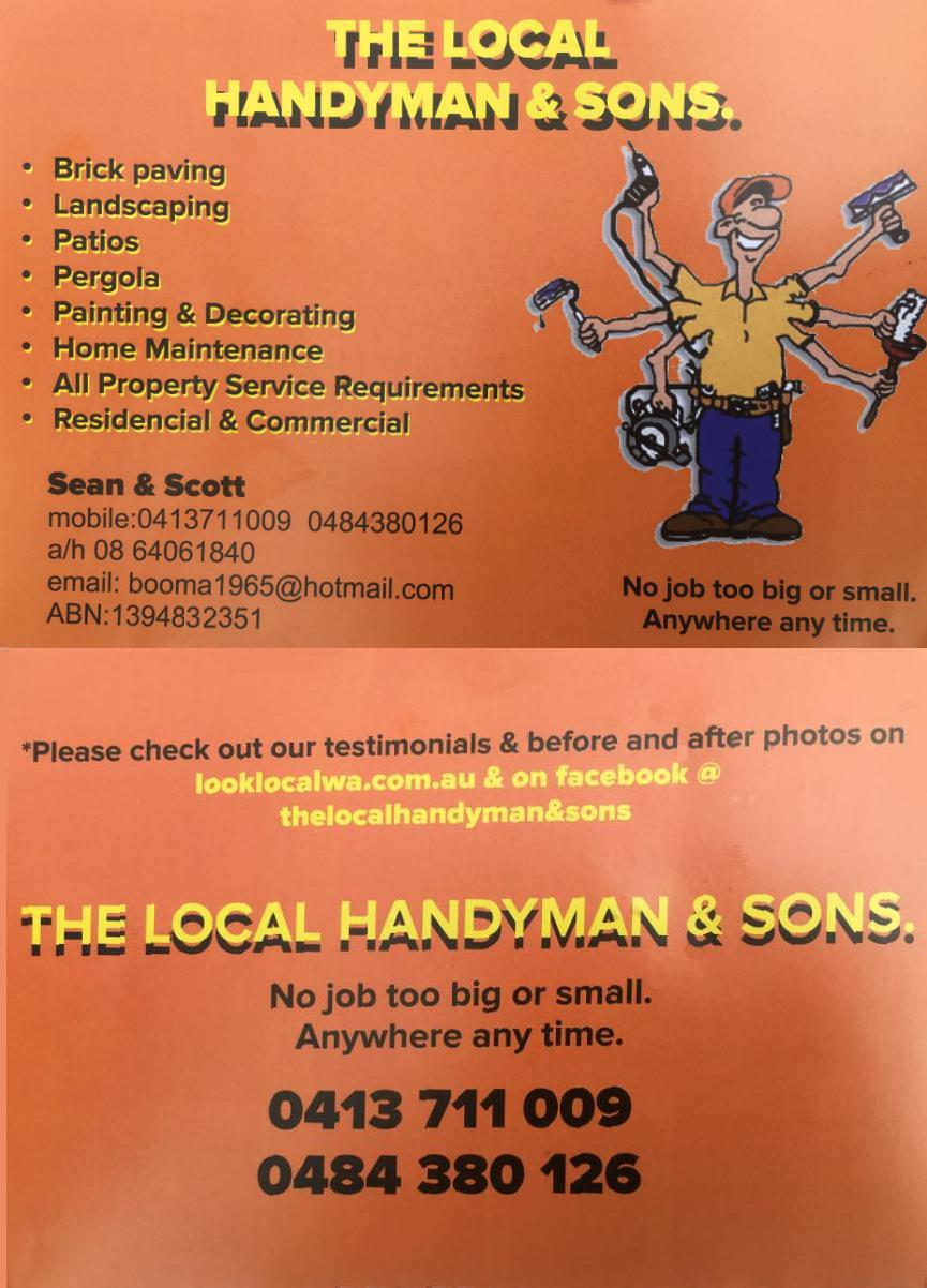 The Local Handyman Sons Painters Decorators Handyman